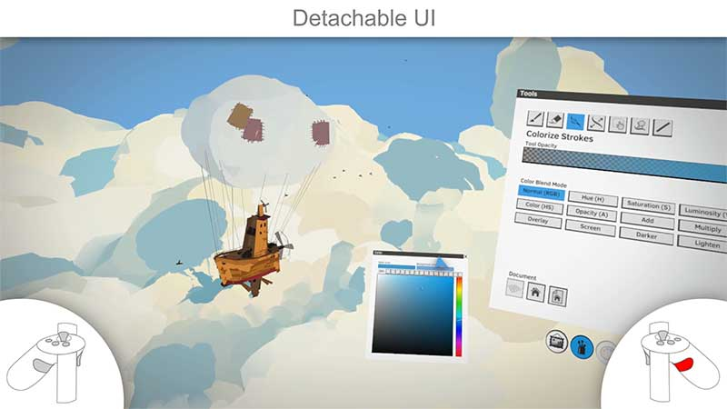 Detachable UI